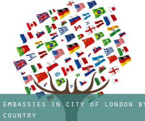 Embassies in City of London by Country
